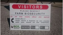 Picture of Biosecurity Sign