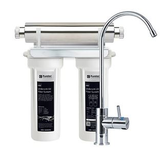 Picture of Undersink UV Water Filter System with High Loop LED Faucet ESR2